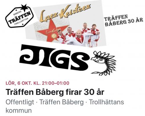 Jigs live på Träffen Båberg 6 oktober 2018